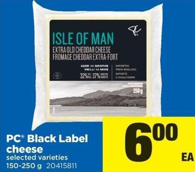 PC Black Label Cheese - 150-250 g