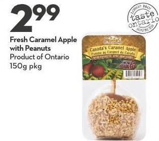 Fresh Caramel Apple With Peanuts