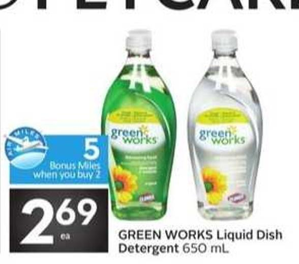 Green Works Liquid Dish Detergent - 5 Air Miles Bonus Miles