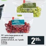 PC Extra Large Green Or Red Seedless Grapes