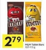 M&M Tablet Bars