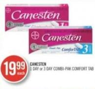 Canesten 1 Day or 3 Day Combi-pak Comfort Tab