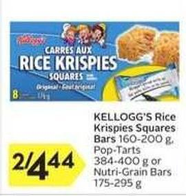 Kellogg's Rice Krispies Squares Bars