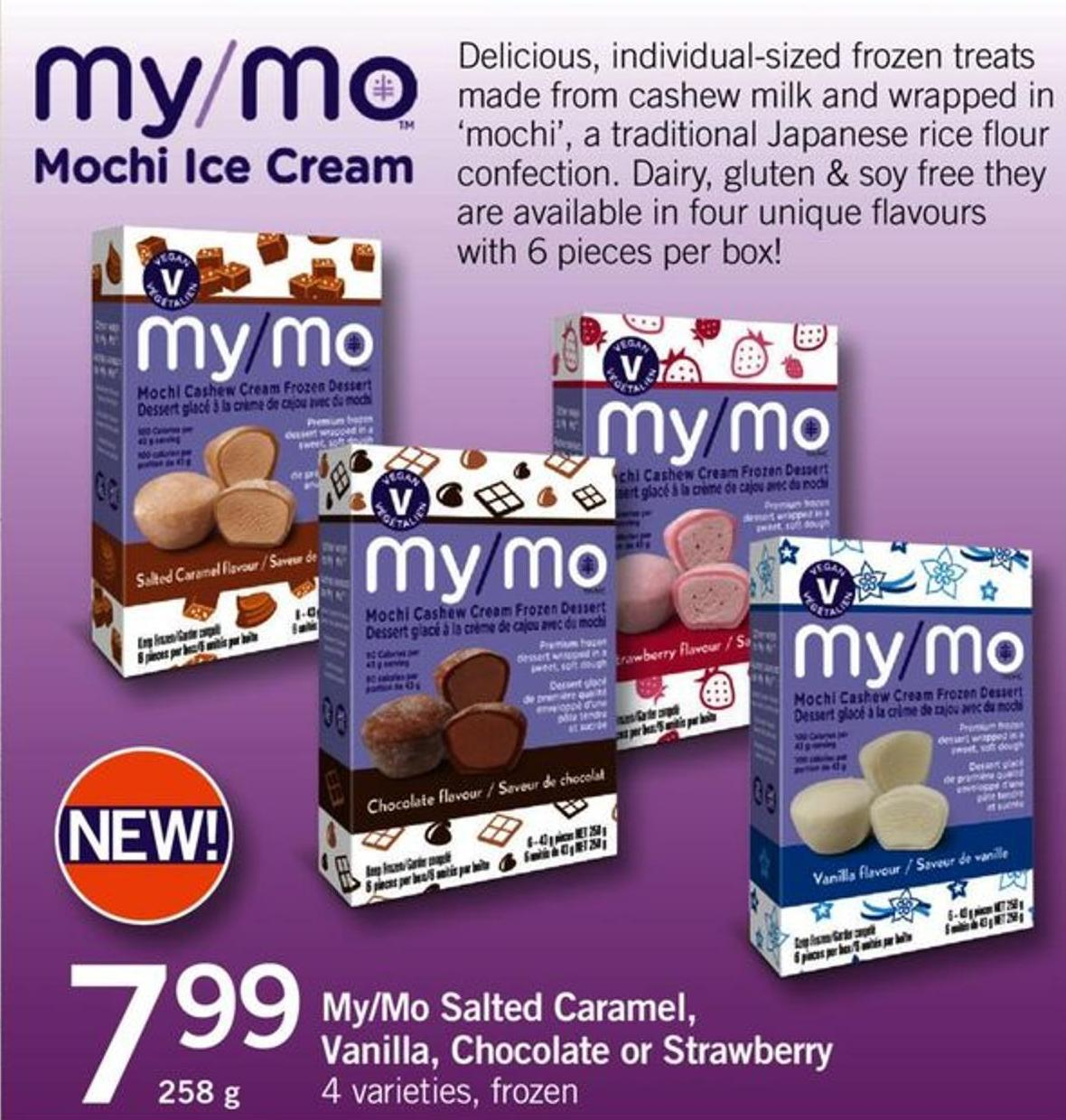 My/mo Salted Caramel - Vanilla - Chocolate Or Strawberry - 258 G