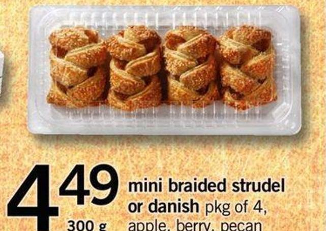 Ini Braided Strudel Or Danish - Pkg Of 4 - 300 G