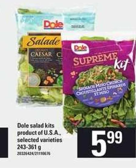 Dole Salad Kits - 243-361 g