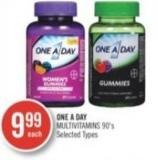 One A Day Multivitamins 90's