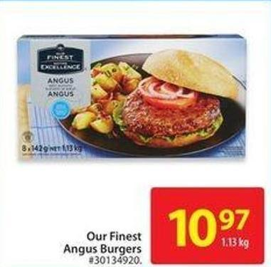 Our Finest Angus Burgers