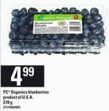 PC Organics Blueberries - 278 G