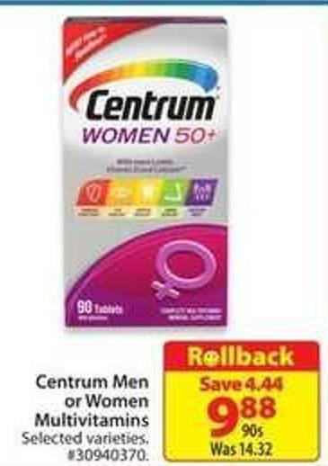 Centrum Men or Women Multivitamin