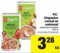 PC Organics Cereal Or Oatmeal - 227 g