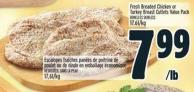 Fresh Breaded Chicken Or Turkey Breast Cutlets Value Pack