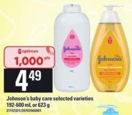 Johnson's Baby Care Selected Varieties - 192-600 Ml Or 623 G