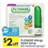 Flonase Allergy Relief Spray - 20 Air Miles Bonus Miles