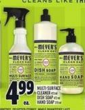 Meyer's Multi-surface Cleaner 473 ml Dish Soap 473 ml - Hand Soap 370 ml