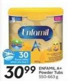 Enfamil A+ Powder Tubs - 30 Air Miles Bonus Miles