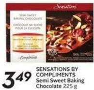 Sensations By Compliments Semi Sweet Baking Chocolate
