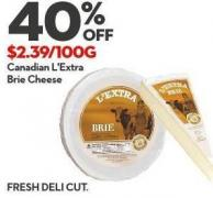 Canadian L'extra  Brie Cheese