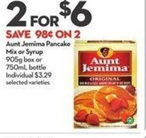 Aunt Jemima Pancake Mix or Syrup