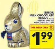 Gubor Milk Chocolate Bunny