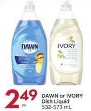 Dawn or Ivory Dish Liquid 532-573 ml