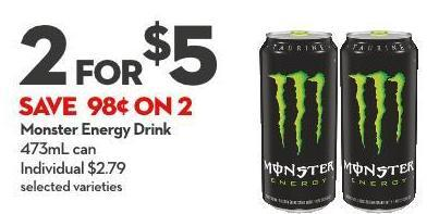 Monster Energy Drink 473ml Can