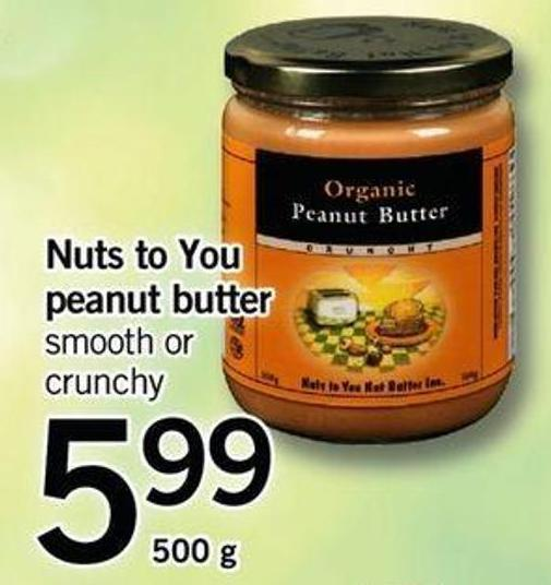 Nuts To You Peanut Butter - 500 G