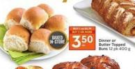Dinner or Butter Topped Buns 12 Pk 400 g