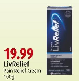 Livrelief Pain Relief Cream 100g
