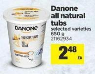 Danone All Natural Tubs - 650 g