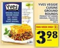 Yves Veggie Cuisine Ground Rounds