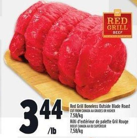 Red Grill Boneless Outside Blade Roast