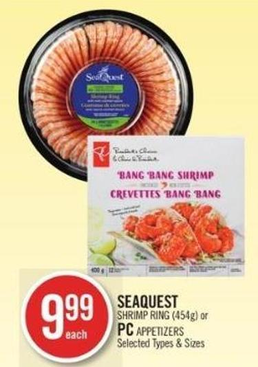 Seaquest Shrimp Ring (454g) or PC Appetizers