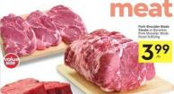 Pork Shoulder Blade Steaks or Boneless Pork Shoulder Blade Roast