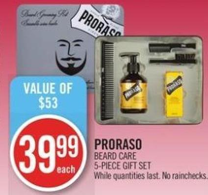 Proraso Beard Care 5-piece Gift Set