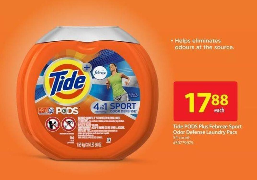 Tide PODS Plus Febreze Sport Odor Defense Laundry Pacs