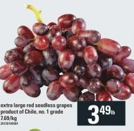Extra Large Red Seedless Grapes