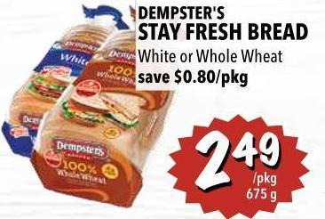 Dempster's Stay Fresh Bread 675 g