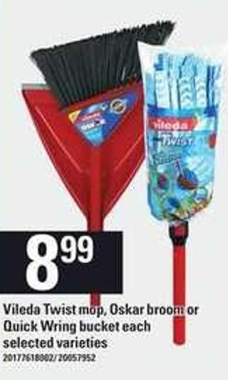 Vileda Twist Mop - Oskar Broom Or Quick Wring Bucket