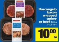 Marcangelo Bacon Wrapped Turkey Or Beef - 340 G
