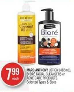 Marc Anthony Lotion (465ml) - Bioré Facial Cleansers or Acne Care Products