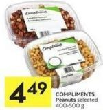 Compliments Peanuts Selected 400-500 g