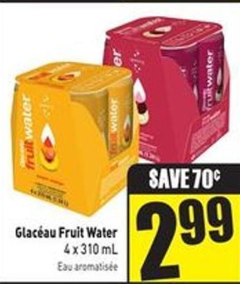 Glacéau Fruit Water 4 X 310 mL