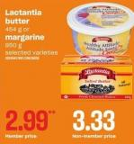 Lactantia Butter 454 G Or Margarine 850 G