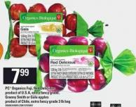 PC Organics Fuji - Red Delicious Granny Smith Or Gala Apples - 3 Lb Bag