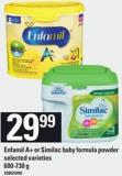 Enfamil A+ Or Similac Baby Formula Powder - 600-730 g