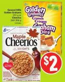 General Mills Golden Grahams 331 g or Cheerios 260-306 g