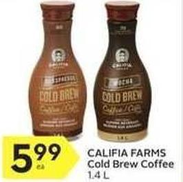 Califia Farms Cold Brew Coffee 1.4 L