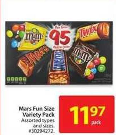 Mars Fun Size Variety Pack