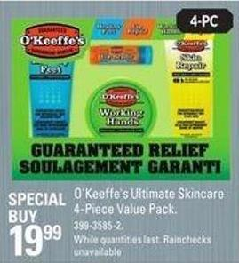 O'keeffe's Ultimate Skincare 4-piece Value Pack